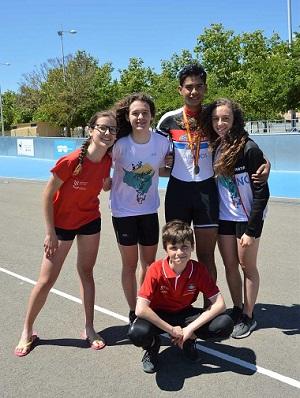 Plata y bronce en el nacional de pista infantil, juvenil y copa alevin