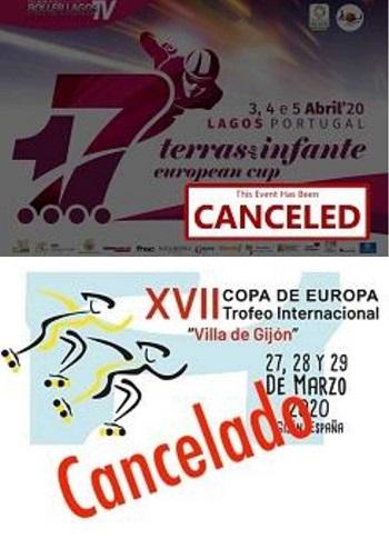Cancelación de los trofeos Villa de Gijón y Terras do Infante