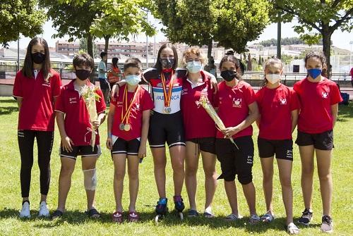 Oro, plata (2) y bronce en el Campeonato de España en pista para infantil-juvenil y Copa de España alevín